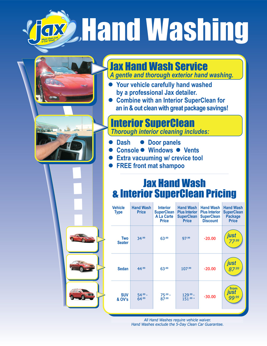 Jax Car Wash Hand Wash