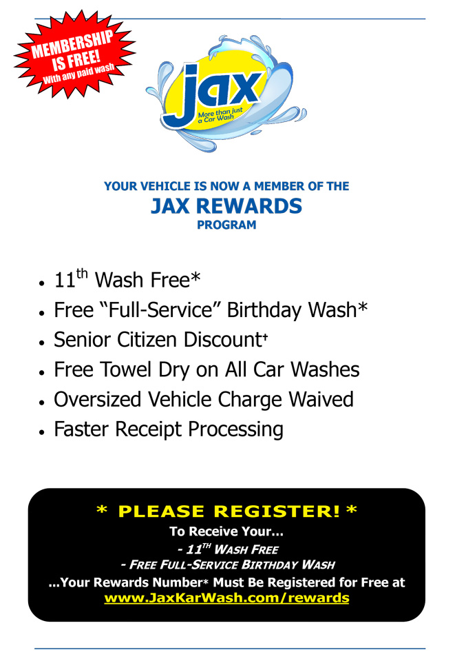 The Jax Rewards Program Brochure