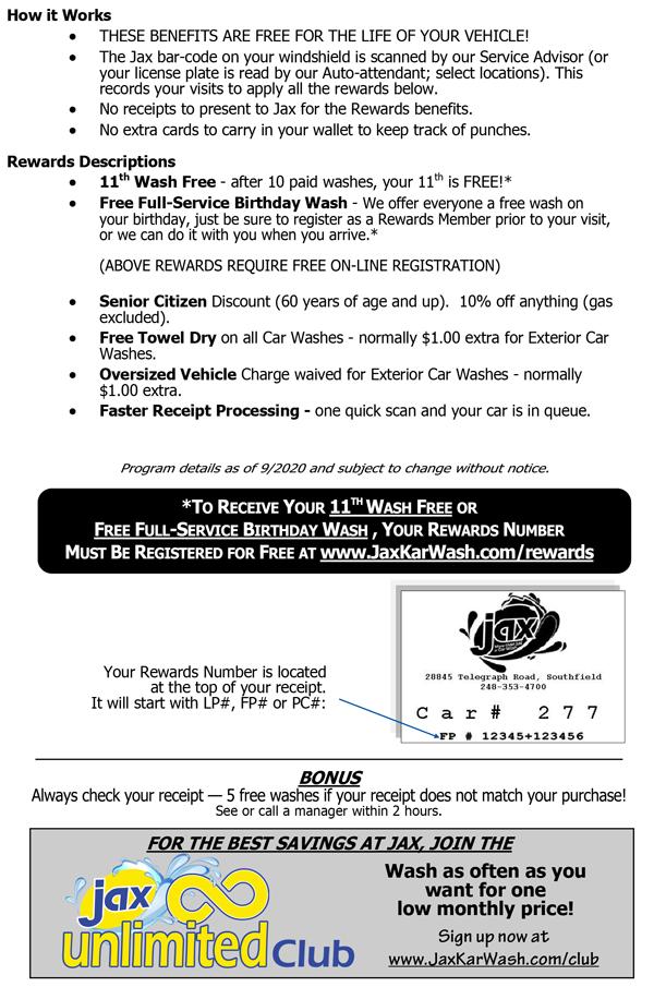 Rewards Flyer - Back