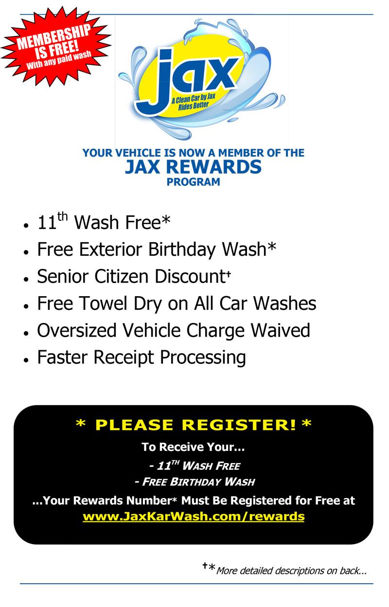 Jax Rewards Program Description